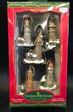 Thomas Kinkade Mini Lighthouse Ornaments Iob of 5