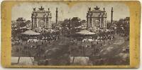 Francia Parigi Place Trono Foire Foto Hippolyte Jouvin Stereo Albumina c1860