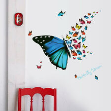 Large Colorful Butterfly Mural Art Wall Stickers Vinyl Decal Home Room Decor