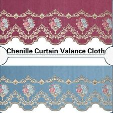 Chenille Embroidery Curtain Valance Cloth Jacquard Window Curtain Accessory DIY