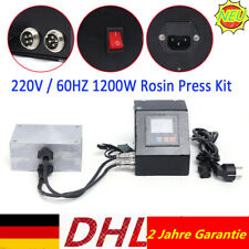 "220V NEW 6 ""* 4"" Rosin Press Plates Kit with LCD Temp Controller 1200W"