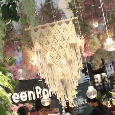 Macrame Woven Wall Hanging Tapestry Handmade BOHO Chic Bohemian Art Wall Decor <
