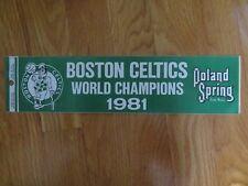 "Original Poland Springs 1981 BOSTON CELTICS World Champions 12"" STICKER / DECAL"