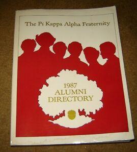 Pi Kappa Alpha Fraternity Alumni Directory 1987