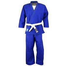 Playwell Judo Blanqueado Azul Estudiantes Uniforme Niños Trajes Algodón Gi