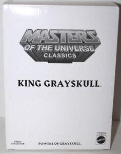 HE MAN MOTUC CLASSICS KING GRAYSKULL W/WHITE BOX  #T5804  SEALED NEVER REMOVED
