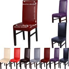Домашний декор из полиуретановой кожи обеденный стул задняя крышка протектор сиденье стрейч чехол