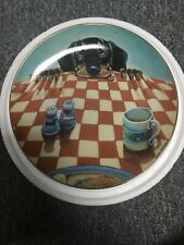 Decorative Danbury Mint Hungry Hound Dachshund By Gary Patterson Plate Rare