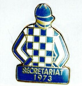 1973 - SECRETARIAT - Kentucky Derby Jockey Silks Pin