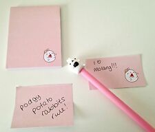 Molang podgy potato rabbit cute kawaii kitsch sticky notes sticky markers