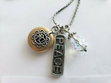 BRIGHTON PEACE Crystal Charm Necklace