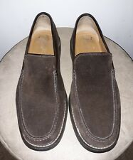 985609cf22a EUC a. testoni Men s 9 Brown Suede Driving Moc Toe Loafers Made Italy