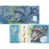 2017 RBA Official Folder Two Generations of $10 Unc Pair
