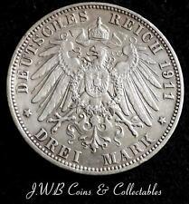 1911 Sassonia Argento 3 MARK MEDAGLIA-Stati tedeschi
