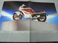 H530 BROCHURE POSTER HONDA CBR 1000F 1987 MOTORFIETS VAN HET JAAR 1987 ALL MODEL