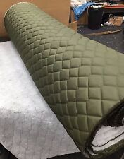 QUILTED FABRIC OLIVE 4oz Waterproof Outdoor Material Dress Clothing Upholstery