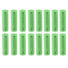 16 x AA 2A 3000 (Actual 300mAh) 1.2V Ni-MH NiMH Rechargeable Battery Cell Green