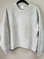 Womens H&M Gray Chunky Soft Sweater Size Small