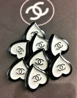 1 Pieces 100% Authentic Chanel CC Logo Button Buttons 0,87x0,87 inch Metal Stamp