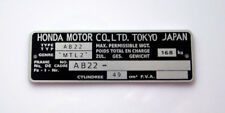 Plaque mines Constructeur Honda Monkey AB22 ZB 50 Z50 Dax VIN typenschild