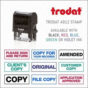 Copy / Approved / Sign And Return / Original Rubber Stamp Office - Trodat 4912