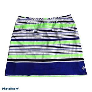 Jo Fit Women's Large Pull On Knit Stripe Golf Tennis Mina Skort