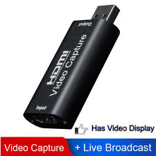 HD 1080P USB 2.0 HDMI Video Capture Card Live Streaming VHS Grabber Recorder UK·