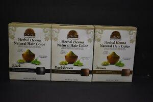 Lot 2 Okay Pure Naturals Herbal Henna Natural Hair Color Black Dark Brown Brown