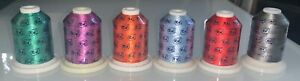 LOT OF 6 Robison Anton Rayon Embroidery Thread 6 Spools 1100 Yds Each Assorted