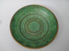 Carl Sorensen Arts & Crafts era Bronze Bowl Green Patina with Concentric Circles