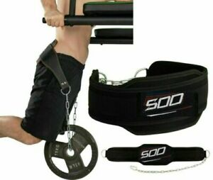 Fitness Dip Belt With Chain For Weightlifting Powerlifting CrossFit Strength Pul