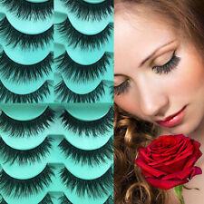 5 Paires Messy Naturelles Epais Maquillage FAUX CILS Faits à la Main