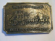 OLD WESTERN THE HANGTOWN JERKLINE SIERRA HUMPS & SADDLBACKS BELT BUCKLE