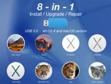 Mac OS X Kit Bootable USB 3.0 8in1 a Scelta High Sierra El Capitan Yosemite ecc.
