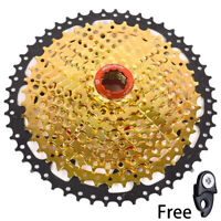BOLANY MTB Bike 10 Speed 11-42T / 50T Cassette Flywheel Gold fit Sram Shimano