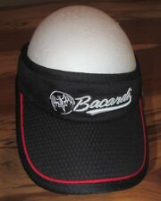 Bacardi Adult Golf Visor, Running Visor, Black, Strapback Adjustable, NEW