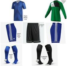 💥Adidas Full Team Kit Blue 11-12 Yrs (x14 Outfield/x 1 GK) *BENEFITS CHARITY*💥