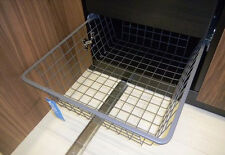 Ikea Komplement Grey Wire Basket Metal Pull-Out Shoe Rack Organiser Pax Cabinet