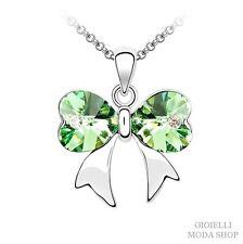 Collana Donna con Ciondolo Farfalla Crystal Swarovski Verde - G84