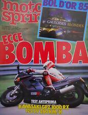 Motosprint 38 1985 Test Kawasaki GPZ 1000 RX 125 CV a 260 Km/h. Cagiva al Rally
