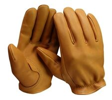 CHURCHILL DEERSKIN TAN LEATHER L GLOVES TAN SEEN ON SONS OF ANARCHY U.S.A. MADE