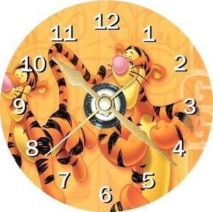 Tigger Winnie The Pooh Novelty Cd Clock Can be personalised