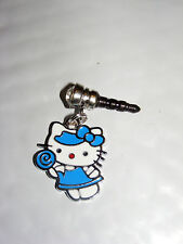 Blue Sucker Candy Hello Kitty phone charm plug anti-dust 3.5mm iphone 4 4s smart