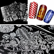 Stainless Steel Stamping Butterfly Flower Nail Art Plates Template Manicure Tool
