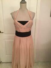 Carolina Herrera Silk Gathered Blush Dress size 8