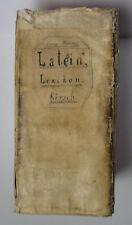Kirsch Latein Lexikon 1796 (W.)