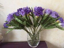 "Lot of 33 Silk Purple Iris Flower Stems 20"""