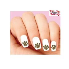 Waterslide Paws Nail Decals Set of 20 - Leopard Print Paw