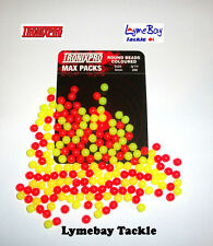 200 x Tronixpro Round 5mm Rig Beads - Mixed Yellow/Red - Plaice Beads