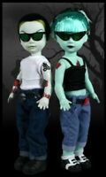 Living Dead Dolls by Mezco -- Psycho Billies -- Tower Record Exclusives